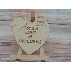 Laser Cut Love of Unicorns